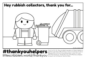 Thank You Rubbish Collectors Printable
